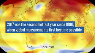 2017 Takes Second Place for Hottest Year