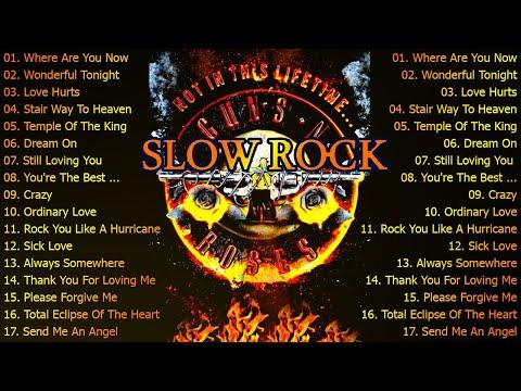 Scorpions, Aerosmith, U2, Guns N' Roses, Led Zeppelin   SLow Rock & Rock Music 70s, 80s, 90s
