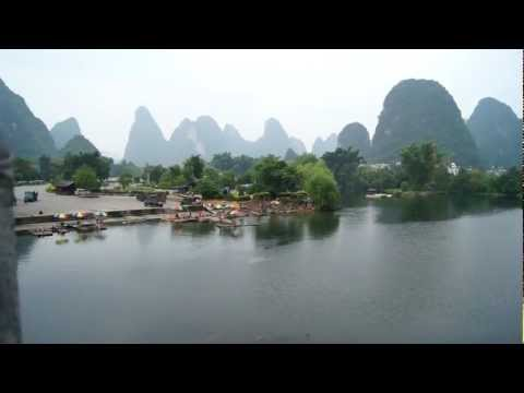 Yangshuo area, Yulong river and Karst mountains