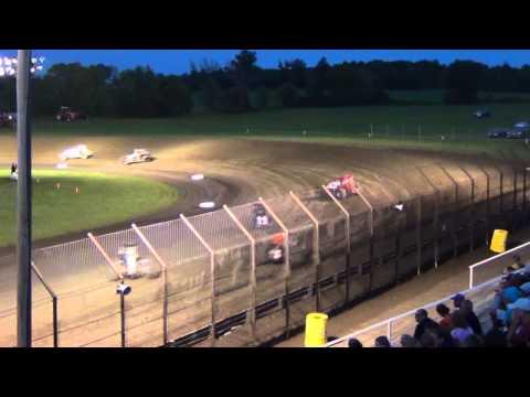 Sprintcar Feature Gas City Speedway (DAVE DARLAND) 8-9-13
