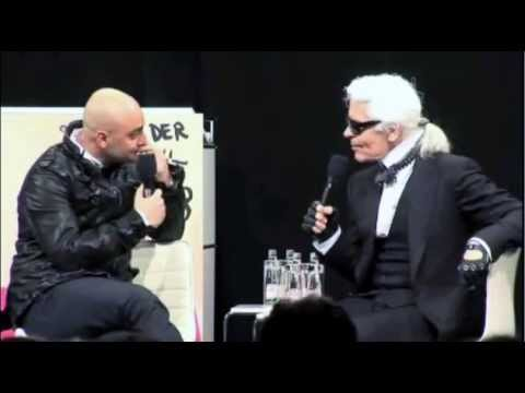 karl lagerfeld youtube interview