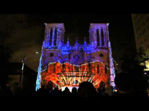 San Antonio church light show 2014