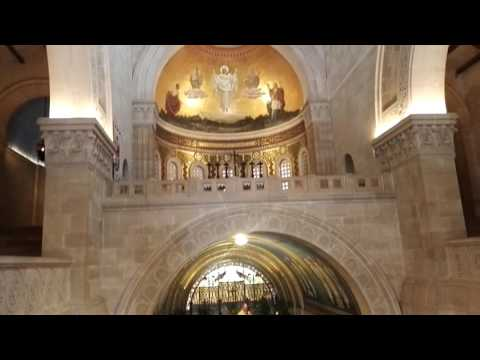 A Catholic Mass at the Church of the Transfiguration of Jesus at Mount Tabor, Israel