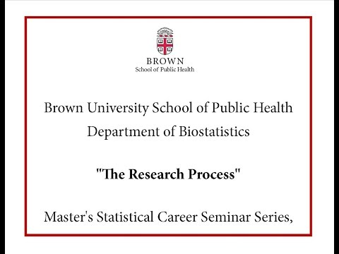 "Master's Statistical Career Seminar Series, Christopher Schmid, PhD, ""The Research Process"""