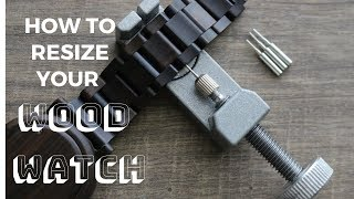 How to remove links from a Wood Watch