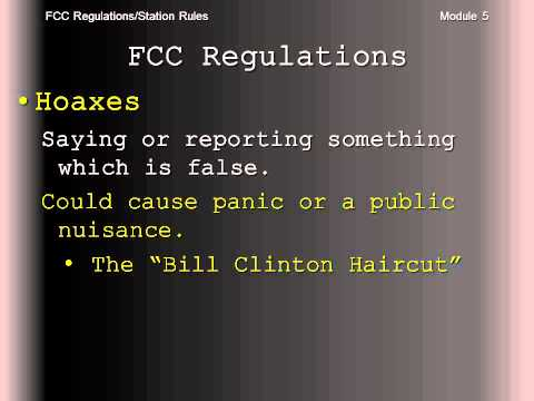 FCC Regulations/Station Rules