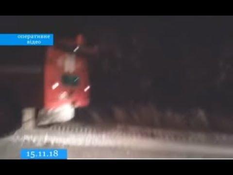 ТРК ВіККА: На Жашківщині перший сніг взяв у полон автобус із пасажирами