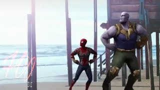 Thanos And Spiderman(Dancing) | Funny Dance | Funnu Status-HorryOM