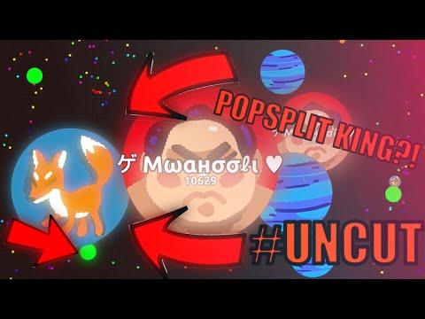 NEW TRICK?! WTF?! POPSPLIT FAIL KING!? // AGAR.IO #UNCUT! // New trick at 0:28