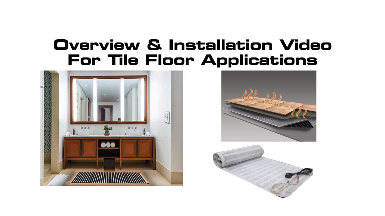 radiant floor heating system for tile