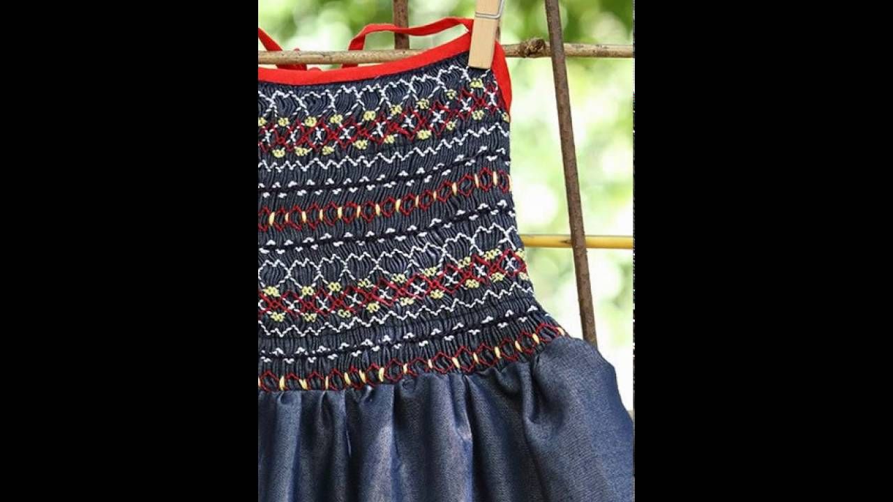 Hand Embroidery Baby Dress - YouTube