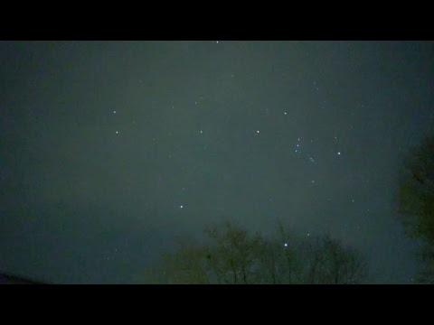 Geminid's Meteor Shower 24 hours prior to peak 12-12-2017