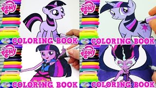 My Little Pony Coloring Book Twilight Sparkle Midnight Episode Surprise Egg and Toy Collector SETC