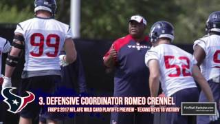 Football Gameplan's 2017 NFL Wild Card Preview: Texans vs Raiders