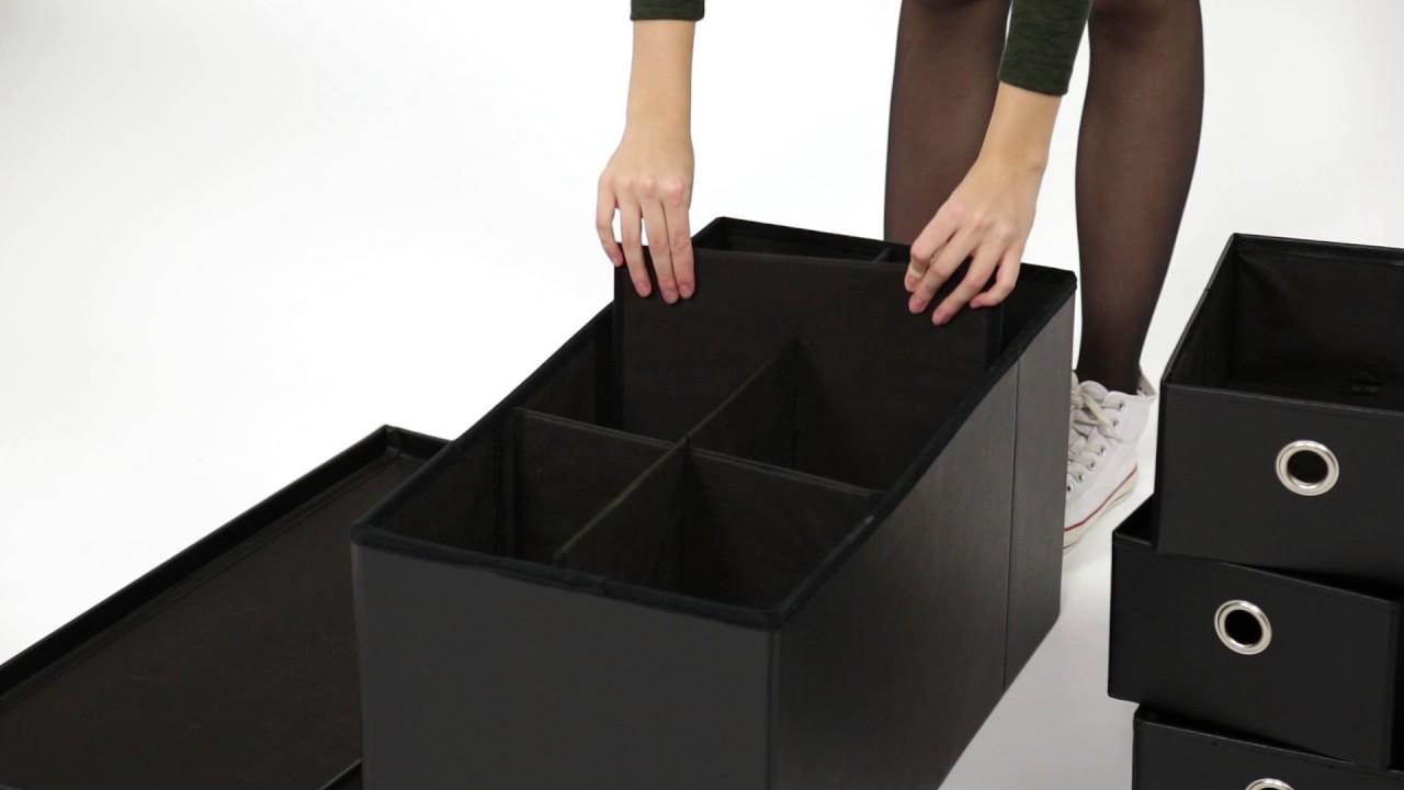 Schwarze sitzbank mit viel stauraum youtube