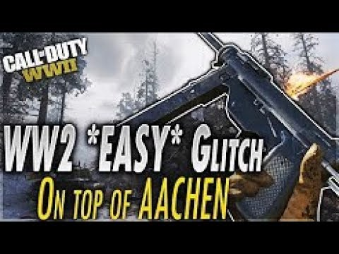 COD World War 2 Glitches: *NEW* Fully on top of Aachen Glitch! EASY
