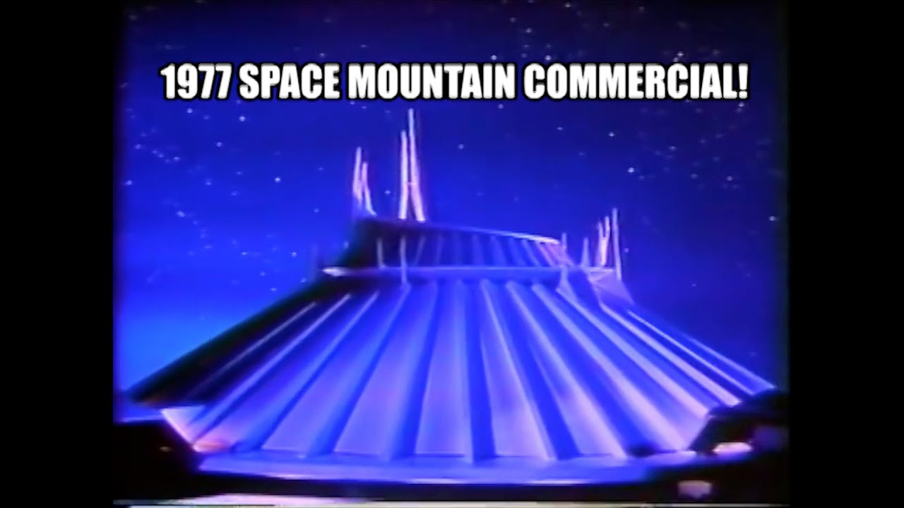 Space Mountain Disneyland Original 1977 TV Commercial ...