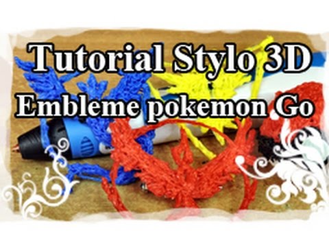 DIY : 3D pen / Stylo 3D Tutoriel N°5 : Embleme Pokemon Go