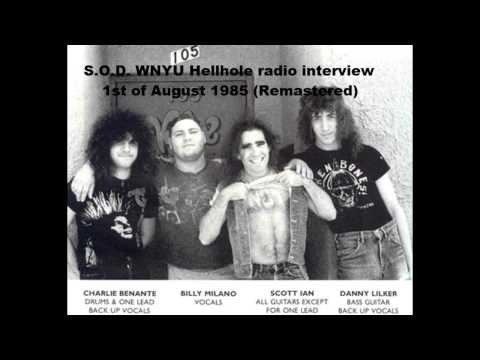 "S.O.D. (US) Radio interview on WNYU ""Hellhole"" 1st August 1985. Thrash metal/crossover"