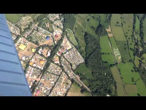 Flying over Glastonbury festival 2013 - GoPro Hero 3 black edition
