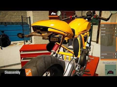 Biker Garage Mechanic Simulator first 11 minutes playthrough  