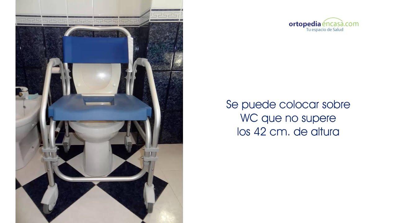 Silla de ruedas pacific para ducha y wc youtube - Ruedas para sillas de ruedas ...