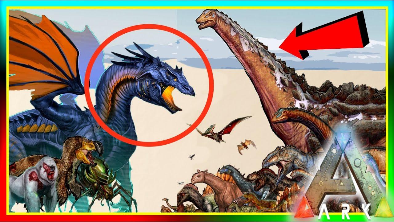 ARK Dinosaur Size Comparisons! UPDATE! (ARK: Survival Evolved Dino ...