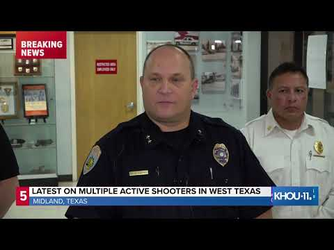 Police provide update after multiple active shooters reported in Odessa, Midland