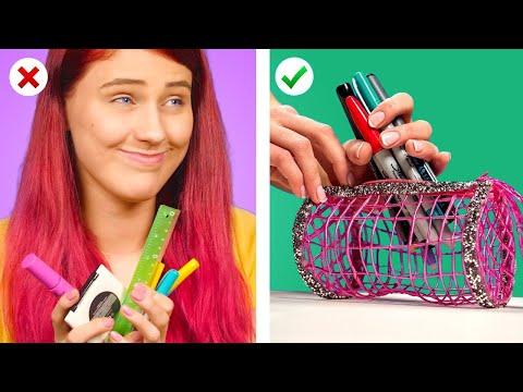 Reuse! 12 DIY School Supplies and More Back to School Hacks