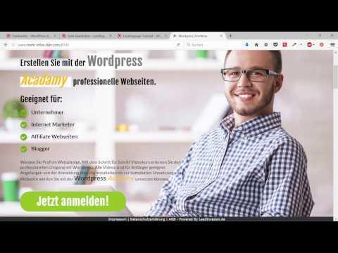 Mit WordPress eine Landingpage erstellen