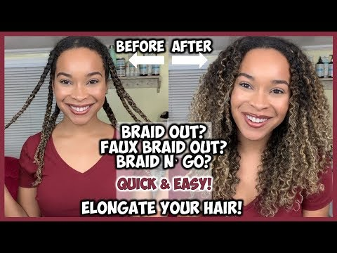 BRAID N' GO!? | HOW TO ELONGATE CURLY HAIR + ADD VOLUME! | QUICK & EASY