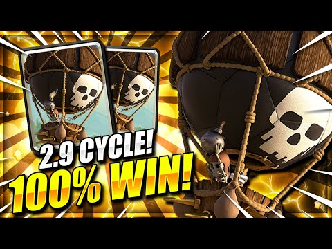 ZERO LOSSES!! 2.9 SUPER FAST CYCLE BALLOON DECK IS TAKING OVER!! Clash Royale Best Balloon Deck