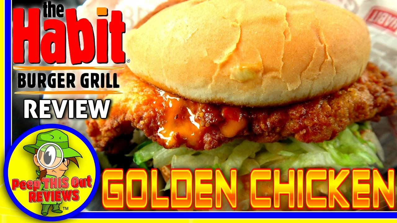 The Habit Burger Grill Golden Chicken Sandwich Review Youtube