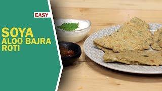 Soya Aloo Bajra Roti   How To Make Bajra Roti   बाजरा रोटी   Rajasthani Roti   Food Tak
