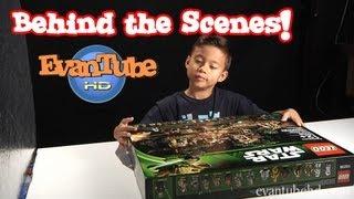 EvanTubeHD BEHIND THE SCENES! - Lego EWOK VILLAGE Preview!