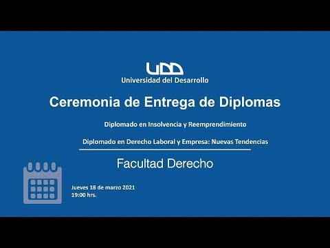 Ceremonia entrega diplomas Diplomado Derecho Laboral y Empresa: Nuevas Tendencias 2020