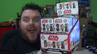 Star Wars The Last Jedi Funko Mystery Minis Bobble Heads Full Box Unboxing Review