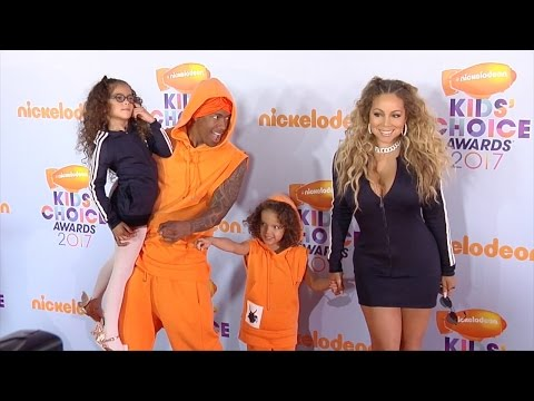 Mariah Carey and Nick Cannon Reunite! 2017 Kids' Choice Awards Orange Carpet