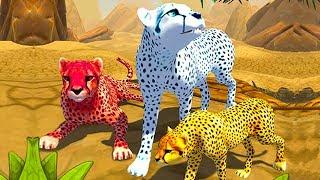 СИМУЛЯТОР ДИКОЙ КОШКИ #3 Родился котенок у гепарда / Развлекательное видео для детей #ПУРУМЧАТА
