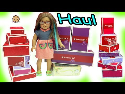 Thumbnail: Giant Sale Haul - American Girl Doll Clothing, Pets, Food + More - Toy Video