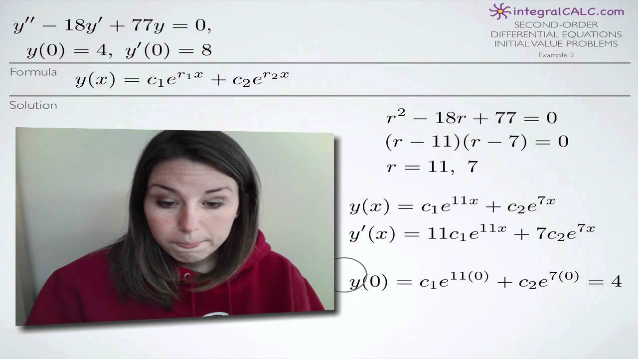 second order differential equations Get the free second order differential equation widget for your website, blog, wordpress, blogger, or igoogle find more mathematics widgets in wolfram alpha.