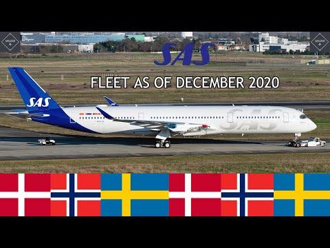 SAS Scandinavian Airlines fleet as of December 2020