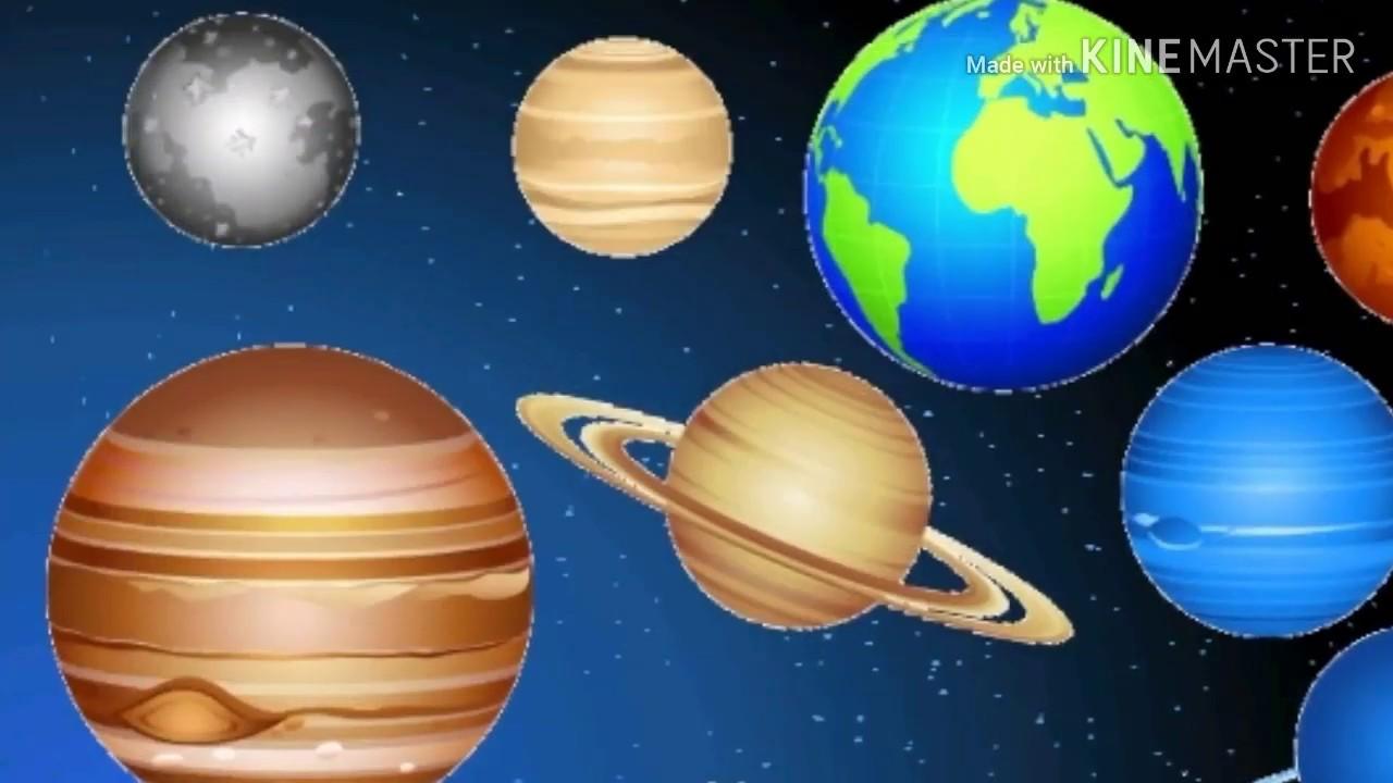 كواكب المجموعة الشمسية باللغة الانجليزية والعربية The Planets الكواكب بالانجليزي Youtube