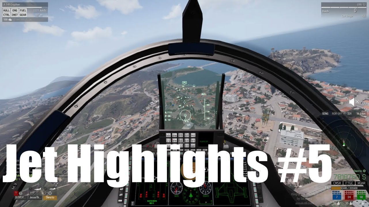 Arma 3 King of the HIll Jet Highlights (Mostly A-149 Gryphon)