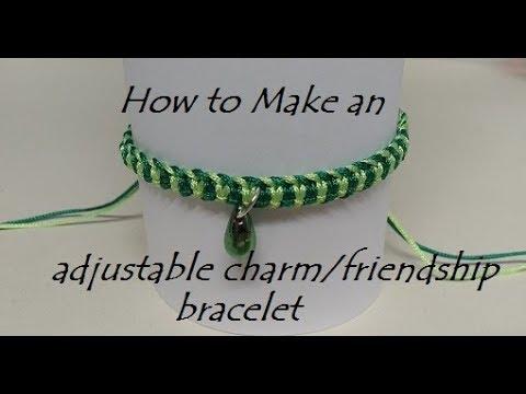 How to Make an Adjustable Macrame/Charm Bracelet