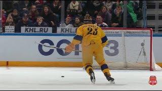 2020 KHL Super Skills. Hardest shot contest