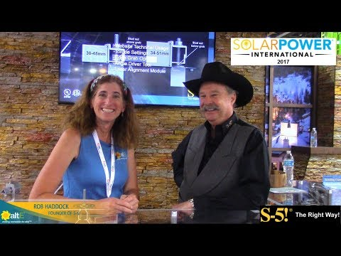 S-5! founder Rob Haddock at Solar Power International 2017