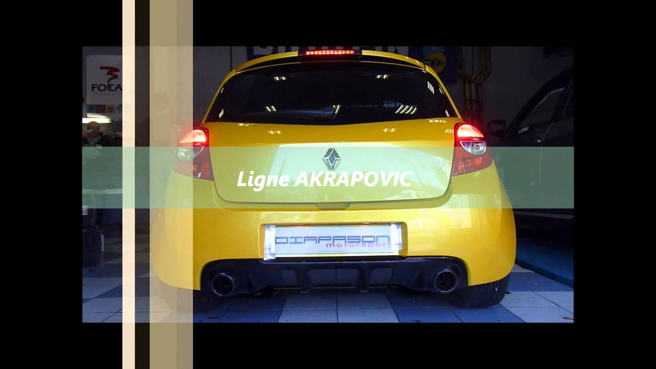 akrapovic exhaust renault clio 3 rs ligne evolution youtube. Black Bedroom Furniture Sets. Home Design Ideas