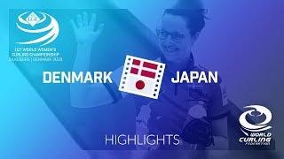 HIGHLIGHTS: Denmark v Japan - round robin - LGT World Women's Curling Championship 2019