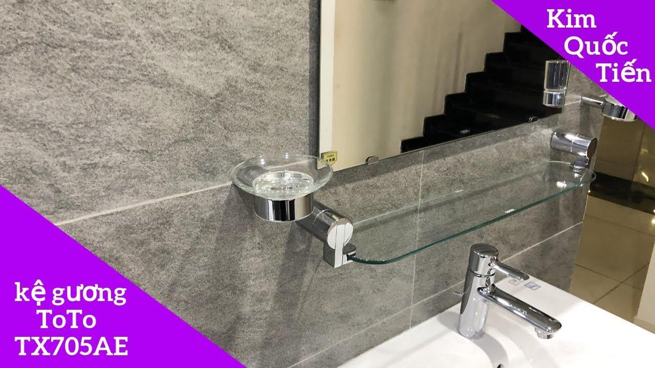 Kệ kính ToTo TX705AE + Gương phòng tắm ToTo YM6075FA